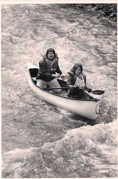 Tandem Fiberglass Canoe